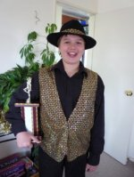 I won a trophy