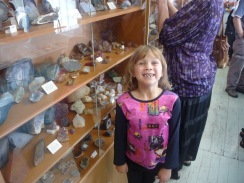 Aimee at Rock and Mineral Club open day